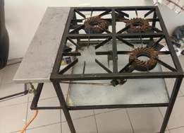 4 plate gas stove plus gas bottle