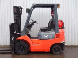 Toyota 7fgf15. 3000mm lift used forklift truck. (11745)