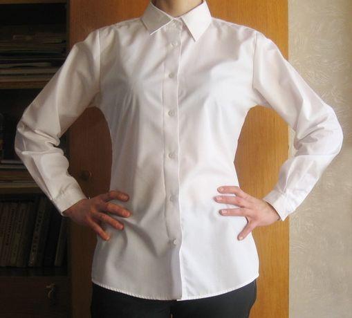 9fbf75b95d9 Базовая белая блузка рубашка с длинным рукавом Next Некст M Сумы -  изображение 1