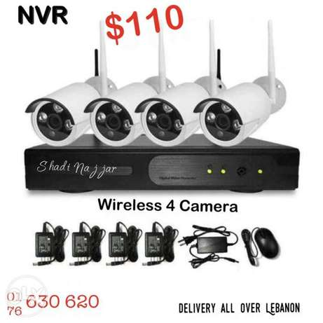 NVR wireless 4 camera $110