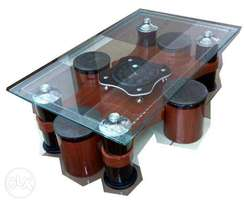 Coffee Table with Functional Clock