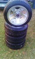 Set of 4 mags and tyres