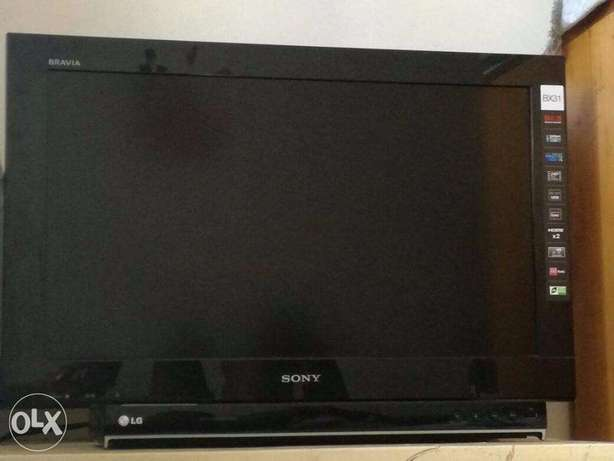 sony bravia tv and LG DVD for sale Kikuyu T-Ship - image 2