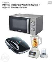 Polystar microwave with grill plus toaster and blender