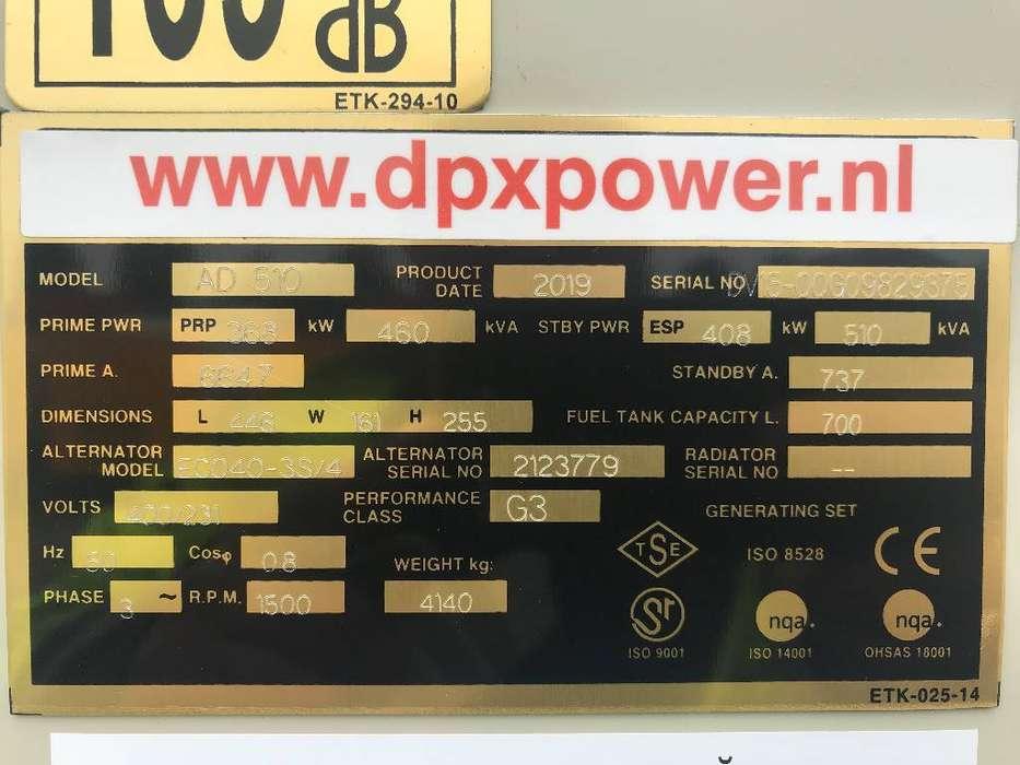 Doosan DP158LC - 510 kVA Generator - DPX-15555 - 2019 - image 4