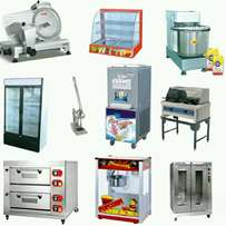 All butcher; bakery; take away and refrigeration equipment