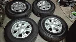 New Ford Ranger rims with 255/70/16 Conti's tyres