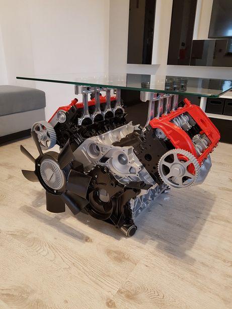 Stolik Z Silnika V8 Audi S8 V12 Handmade Nowoczesny Bmw