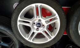 FORD FIESTA Mags and Tyres set