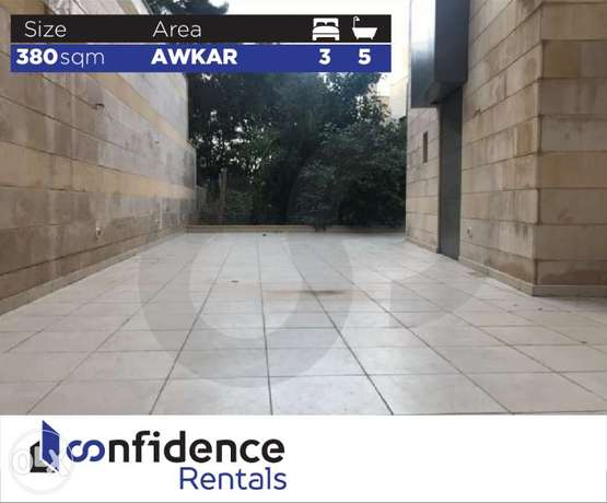LUXURIOUS Apartment 380 SQM In Awkar for rent ! REF#JN40518
