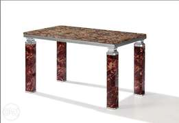 Marble dining table for 6setter brown 998
