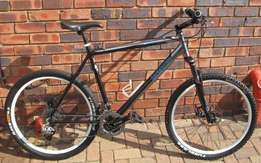 "Mongoose 26"" mountain bike."