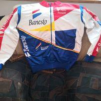 237ab7bef Bluza ciepła kolarska grupy Banesto duża L