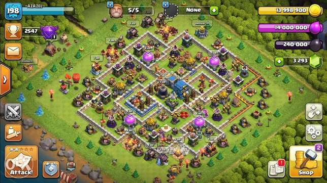 clash of clans th12 halfway max with legendary trophies