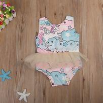 aaa1dbfc14a093 Kostium kąpielowy strój tutu unicorn jednorożec 98 rozmiary