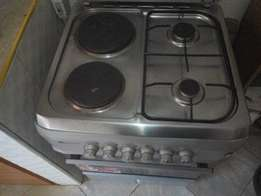 Blue flame gas cooker 2gas and 2 electric plates