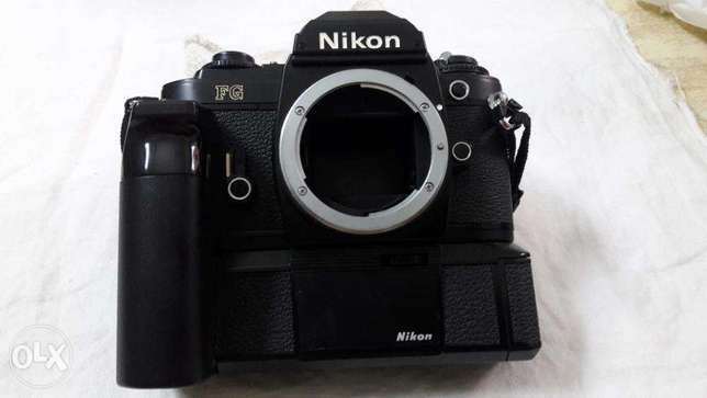 Nikon FG with MD 14 motor drive.