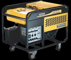 Kipor KGE12E 8.5kw Electric Start Generator for Home or Business - Sta