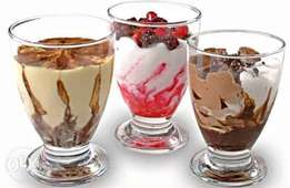6 Pieces Ice Cream Glasses Set