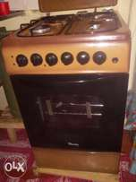 Ramtons cooker three gas burners and one electric