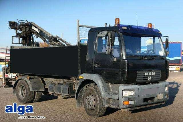 MAN 15.224 4x2, 3.800mm Lang, Heckkran Hiab 085 - 2005
