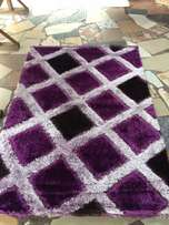 purple design fluffy Centre rugs 4 by 6