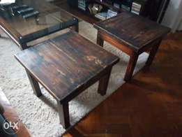 Amazing solid rustic side tables