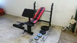 Maxed Heavy-Duty BenchPress 90kg Weights NEW