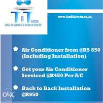 air conditioners from R 5650 installed
