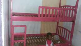 Sale of a wooden double decker bed, size: medium for children