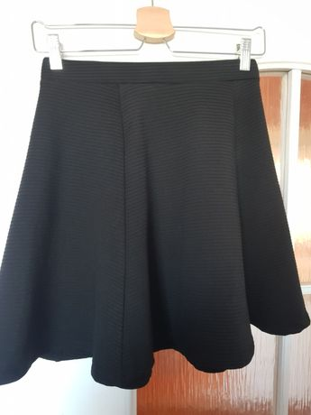 Spódnica rozkloszowana damska czarna sinsay XS 34 36 gumka