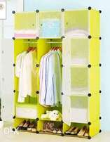 Durable plastic wardrobe