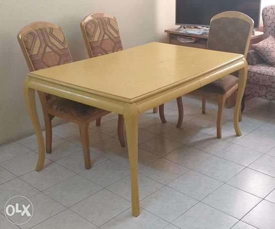 Durable Dining Table with 4 chairs