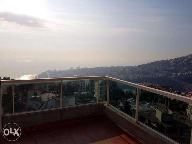 280 m2 duplex for sale in Ghazir having 90 m2 terrace ( sea view )