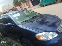 Well used Toyota corrola 2005 model with a/c working.