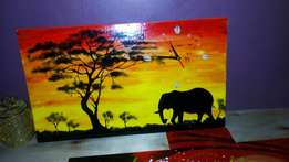 Sunset wall paintings