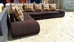 Josiaya furnitureL shaped suede sofa