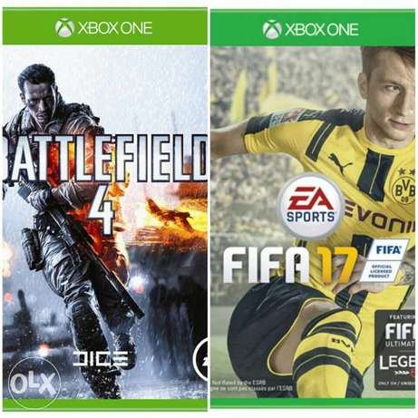 Xbox one Double Bundle. Battlefield 4 and FIFA17 Lagos Mainland - image 1