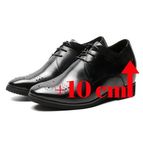 b71169133 Męskie ślubne buty podwyższające wzrost o +10 cm - FARETTI.PL Nysa - image
