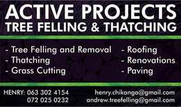 Tree Felling, Grass Cutting and Thatching