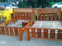 Strong mahogany wooden beds