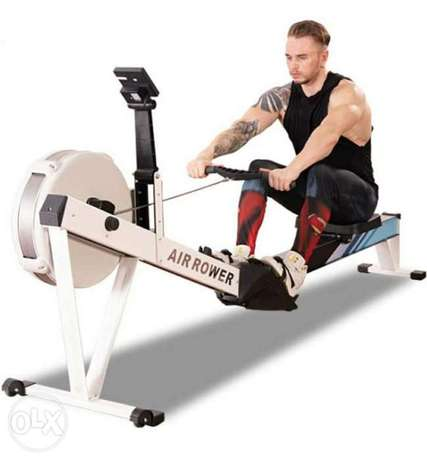 UK Rowing Machines Home Rowing Machine 8 level Wind Resistance Ad