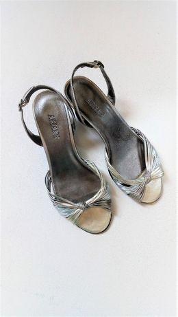 olx srebrne sandały