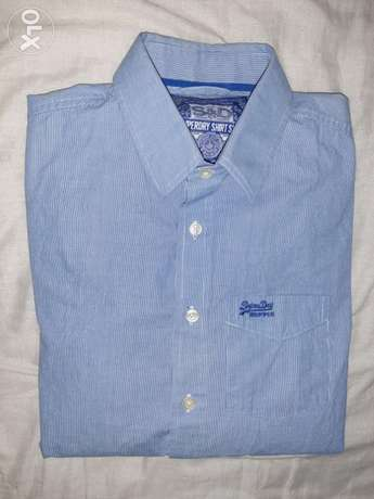 Superdry casual shirt large size slim fit