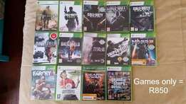 14 Assorted xbox games!