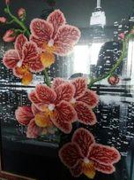 Картина вишита з бісеру ОРХІДЕЯ часткова зашивка 64.5-48см 5c600715d858d