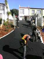 Smooth fine tarring surfacing /driveways & parking areas.
