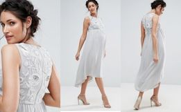 e63edaa8db Sukienka ciążowa GLAMOUR Maya Maternity M