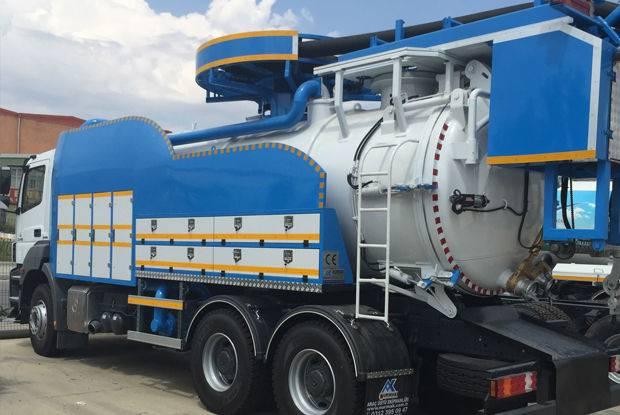VIDANJA cu recircularea apei vacuum truck