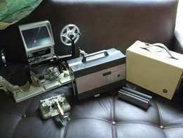 Working slide and film projector
